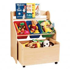 Organizér na hračky, přírodní / vícebarevná, MAISIE