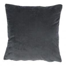 Polštář, sametová látka tmavě šedá, 45x45, ALITA TYP 8