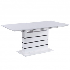 Jídelní stůl, 140 / 180x90, MDF bílá, Medan