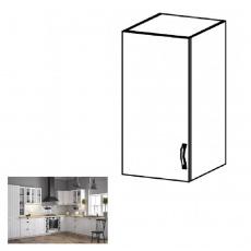 Horní skříňka G30, levá, bílá / sosna andersen, PROVANCE