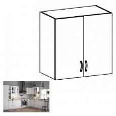 Horní dvoudveřová skříňka G80, bílá / sosna andersen, PROVANCE