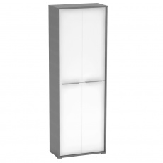 Vysoká skříň, grafit/bílá, RIOMA NEW TYP 5
