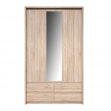 Skříň se zrcadlem 3D4S, Dub sonoma, NORTY TYP 1