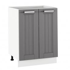 Spodní skříňka, tmavě šedá/bílá, JULIA TYP 56