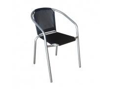 Židle, černá / stříbrná, KERTA