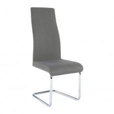 Jídelní židle, látka tmavě šedá / chrom, AMINA