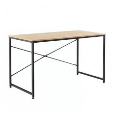 Psací stůl dub / černá, 120x60 cm, MELLORA