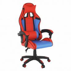 Kancelářské/herní křeslo, modrá/červená, SPIDEX
