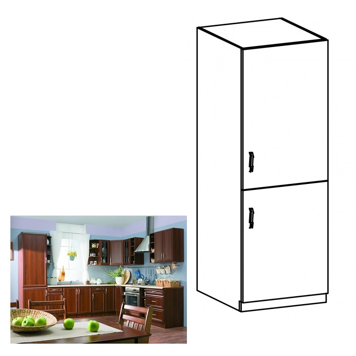 Skříňka na vestavěnou lednici D60ZL, pravá, ořech Milano, SICILIA