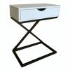 Příruční/noční stolek, bílá/černá, VIRED