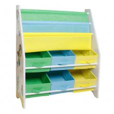 Organizér / regál na hračky, vícebarevná / vzor, NOMITO TYP 1