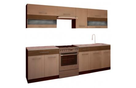 Kuchyňská linka, rigolletto light / dark, wenge, JURA NEW IA ZS