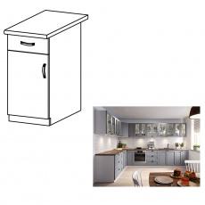 Spodní skříňka, šedá matná / bílá, levá, LAYLA D40S1