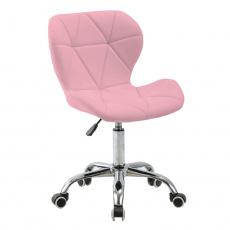 Kancelářské křeslo, růžová / chrom, ARGUS