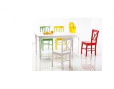 Jídelní židle CD 56 celodřevěná červená