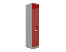 Skříňka dolní vysoká, červený vysoký lesk, PRADO 40 DK-210 2F