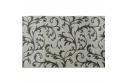 Koberec, krémová / šedý vzor, 57x90, GABBY