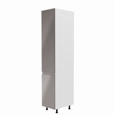 Potravinová skříňka, bílá / šedá extra vysoký lesk, levá, AURORA D40SP