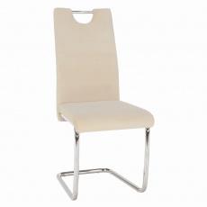 Jídelní židle, béžová Dulux Velvet látka, ABIRA NEW