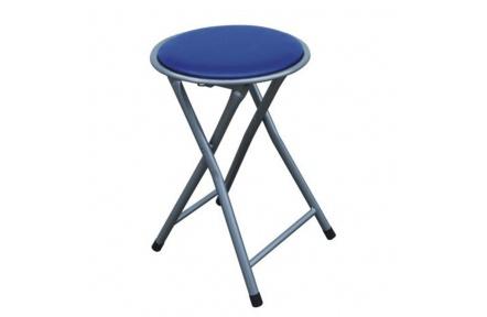 Skládací taburet / stolička, modrá, IRMA