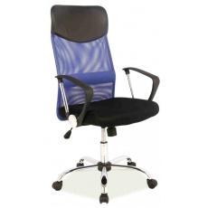 Kancelářská židle Q025 černo- modrá PREZIDENT II