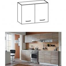 Skříňka do kuchyně, horní, dub sonoma / bílá, Cyra NEW G 80