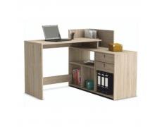 Rohový PC stůl, dub sonoma, VISTA