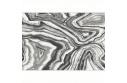 Koberec, bílá/černá/vzor, 67x120, SINAN