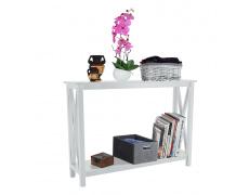 Konzolový stolek, bílá, APOLOS