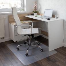 Ochranná podložka pod židli, transparentní, 120x120 cm, 0,8 mm, ELLIE NEW TYP 8