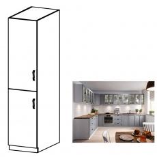 Vysoká skříňka, šedá matná / bílá, levá, LAYLA D40SP