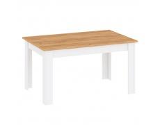 Jídelní stůl, bílá alba / dub craft zlatý, LANZETTE S