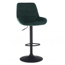 Barová židle, tmavozelená Velvet látka, CHIRO