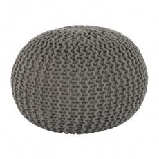 Pletený taburet, hnědošedá bavlna, GOBI TYP 2