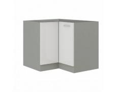 Skříňka dolní, bílá extra vysoký lesk/šedá, PRADO 90/90 DN BB
