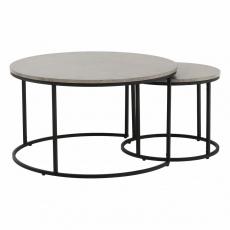 Set dvou konferenčních stolků, beton/černá, IKLIN