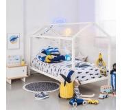 Montessori postel, borovicové dřevo, bílá, IMPRES