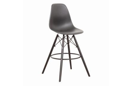 Barová židle, černá, CARBRY NEW