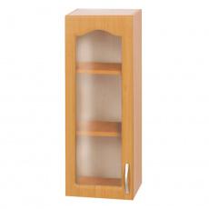 Horní skříňka, olše, levá, LORA MDF NEW KLASIK W40S