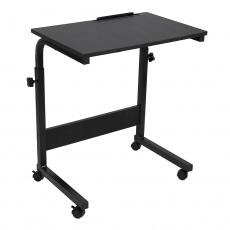 PC stůl s kolečky, černá, WESTA