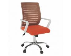 Kancelářske kreslo, biela/oranžová, CAGE