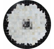 Luxusní koberec, pravá kůže, 150x150 cm, KŮŽE TYP 9