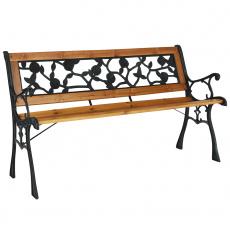 Zahradní lavička, černá/přírodní, FAIZA