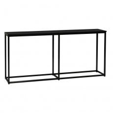 Konzolový stolek v industriálním stylu, tmavě šedá grafit / černá, BUSTA