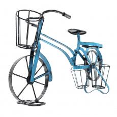 RETRO květináč ve tvaru kola, černá / modrá, ALBO