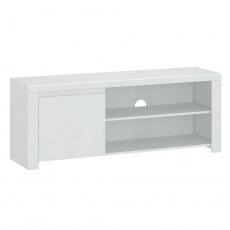TV stolek 1D / 160, bílý lesk, LINDY