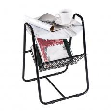 Příruční stolek, mramor/černá, GARSY