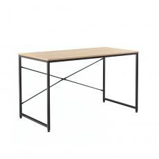 Psací stůl, dub / černá, 90x60 cm, MELLORA