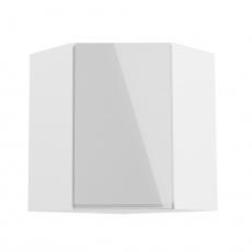 Horní skříňka, bílá / bílý extra vysoký lesk, AURORA G60N