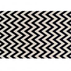 Koberec, slonovinová / tmavě šedá, 133x190, ADISA